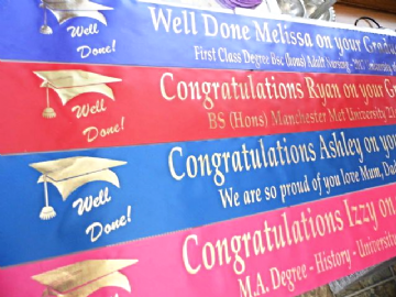 Personalised Graduation Banner